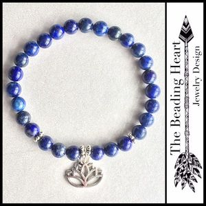 Jewelry - Lapis Lazuli Lotus Flower Bracelet